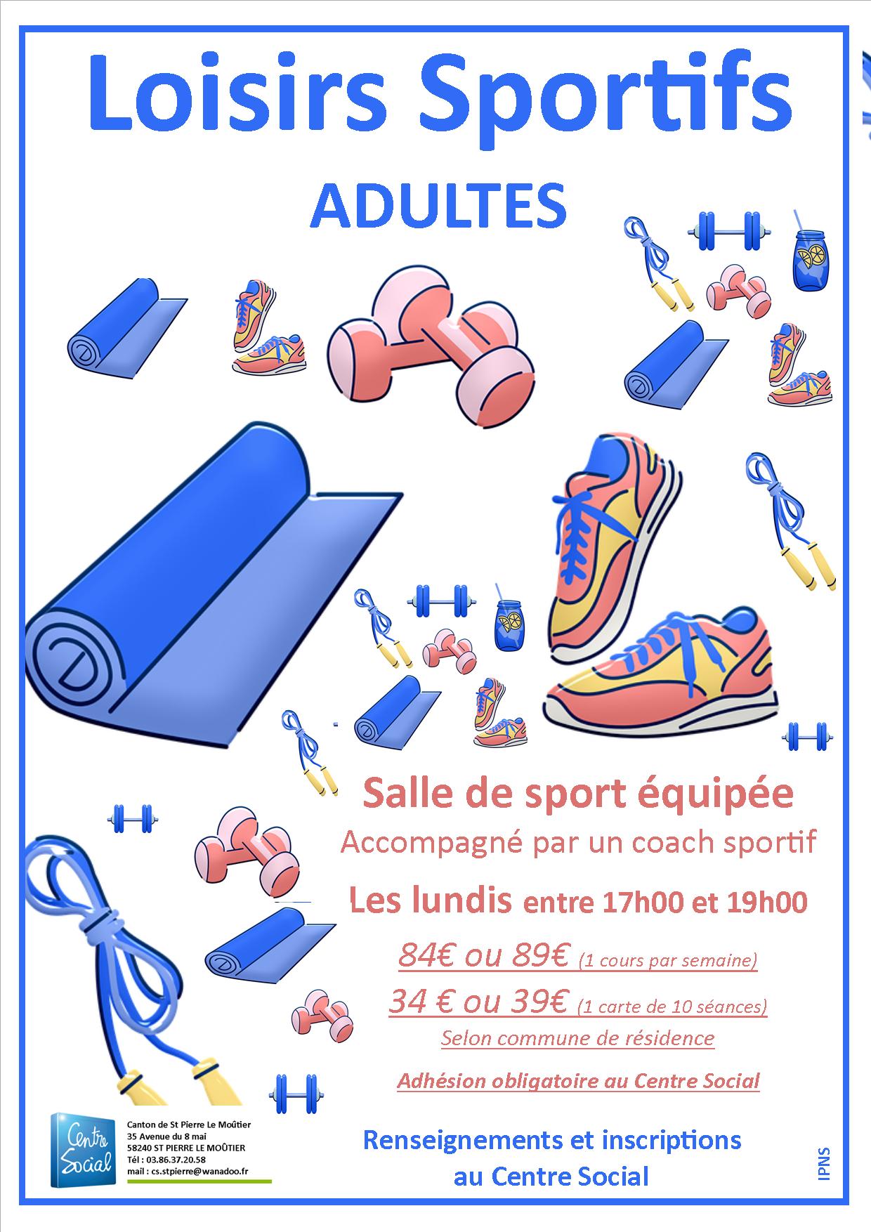 Loisirs sportifs Adultes 2021-2022
