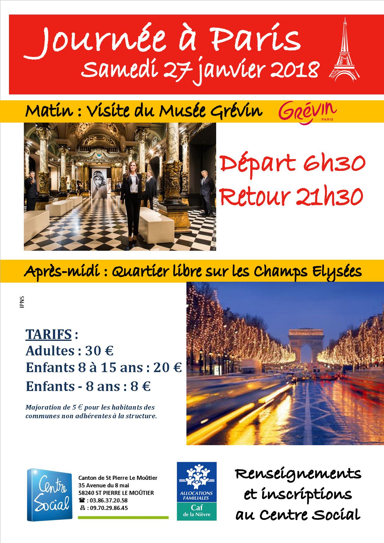 Journée à Paris - 27 janvier