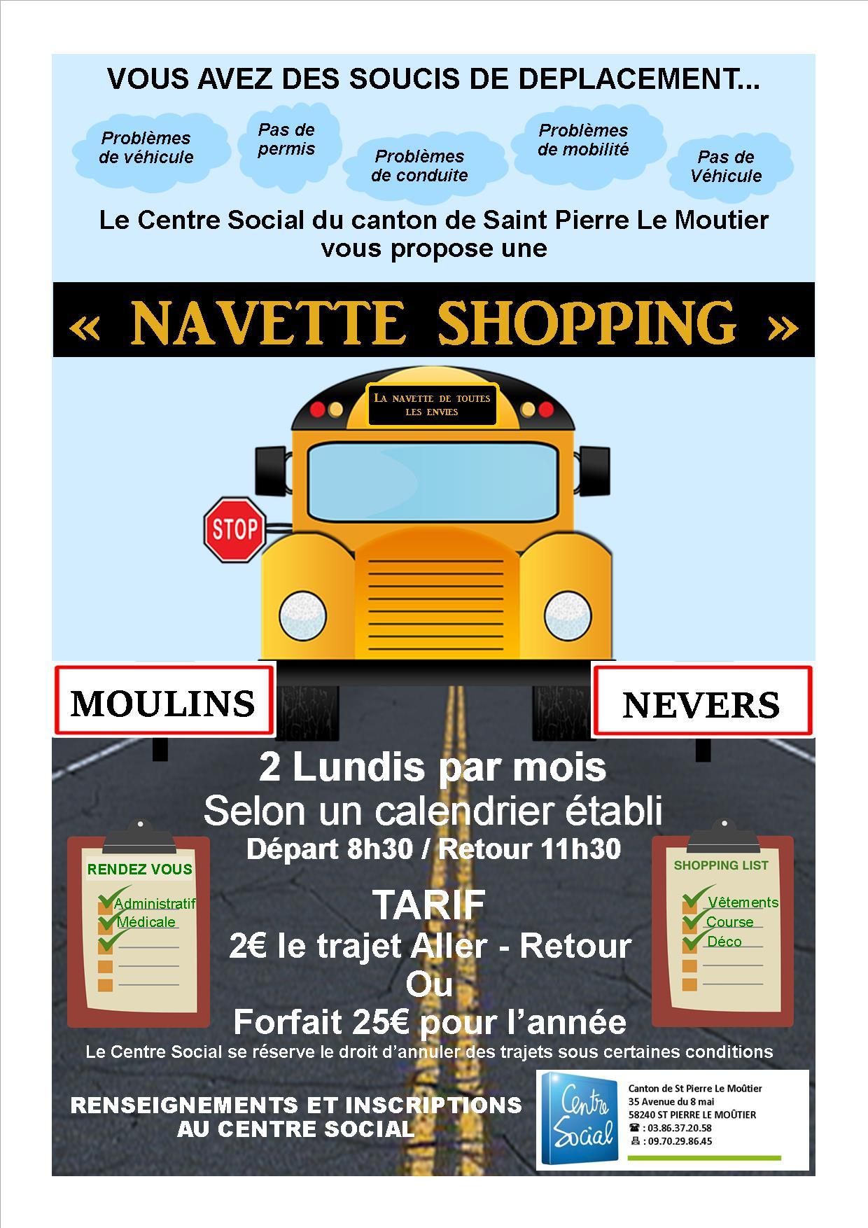 AFFICHE Navette shopping