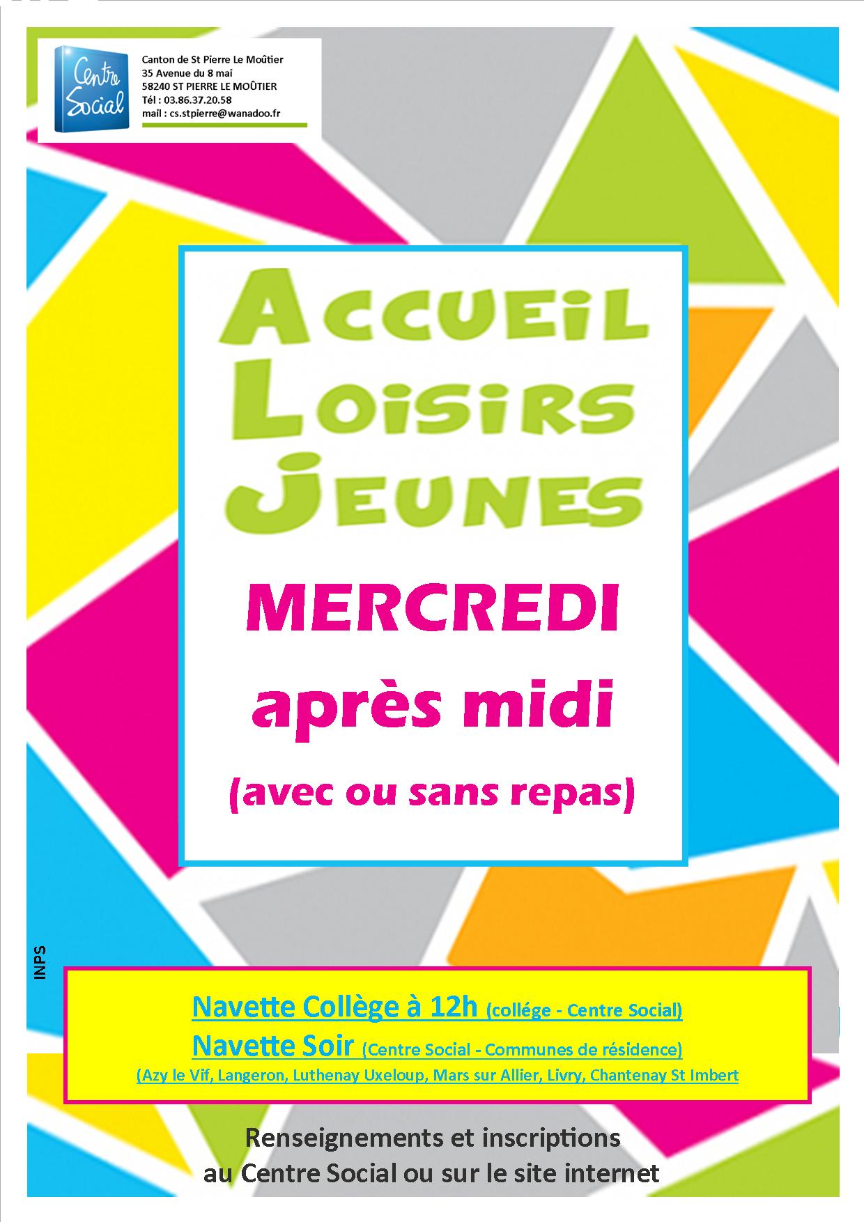 Affiche ACCUEIL JEUNES mercredi 2021-2022